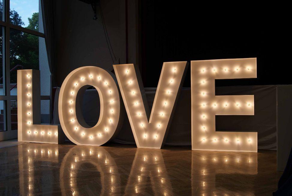 Love deko buchstaben xxl