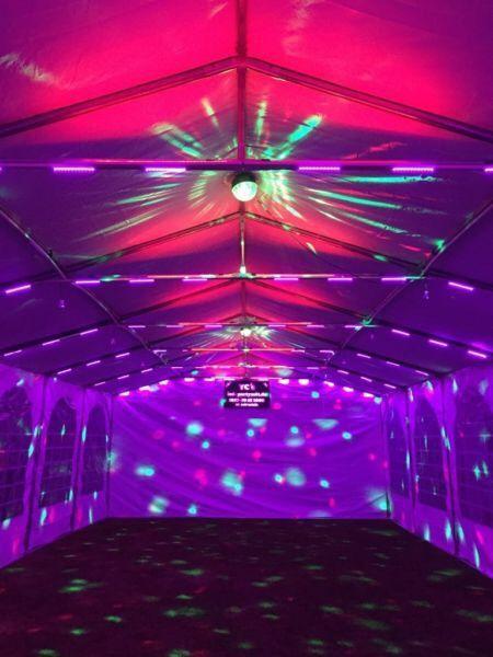 Lovely XXL Partyzelt, 10x6m, Mit Beleuchtung, Hochzeitszelt, Festzelt, Partyzelt    6806527053 Mieten | Erento.com