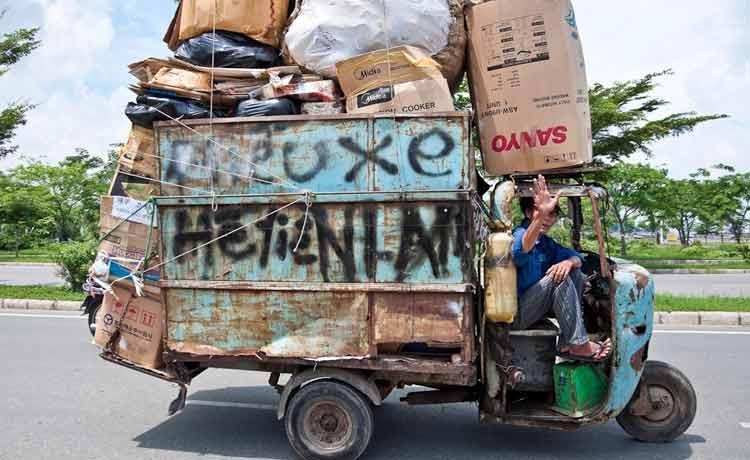 Überladener Caravan