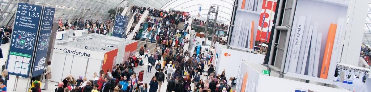 Aufnahme der Frankfurter Buchmesse