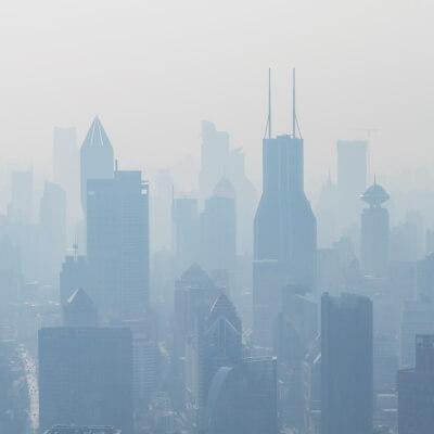 Skyline im Smog