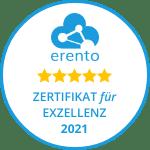 Erento Zertifikat für Exzellenz